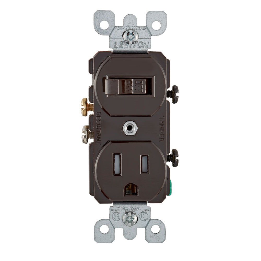 LEV T5225 15A TR SWITCH/RCT COMBO