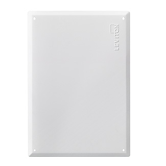 """21"""" Structured Media Flush Mount Cover, Metal, White"""