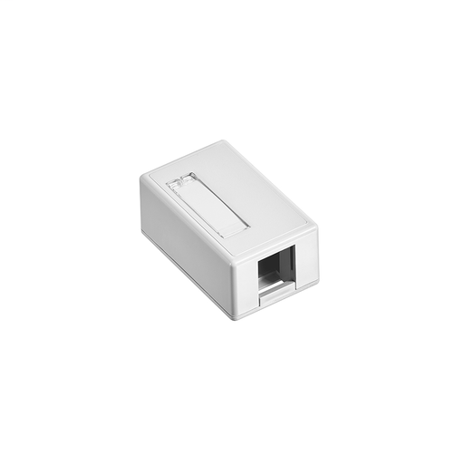 Surface-Mount QuickPort Box, Plenum Rated, 1-Port, White