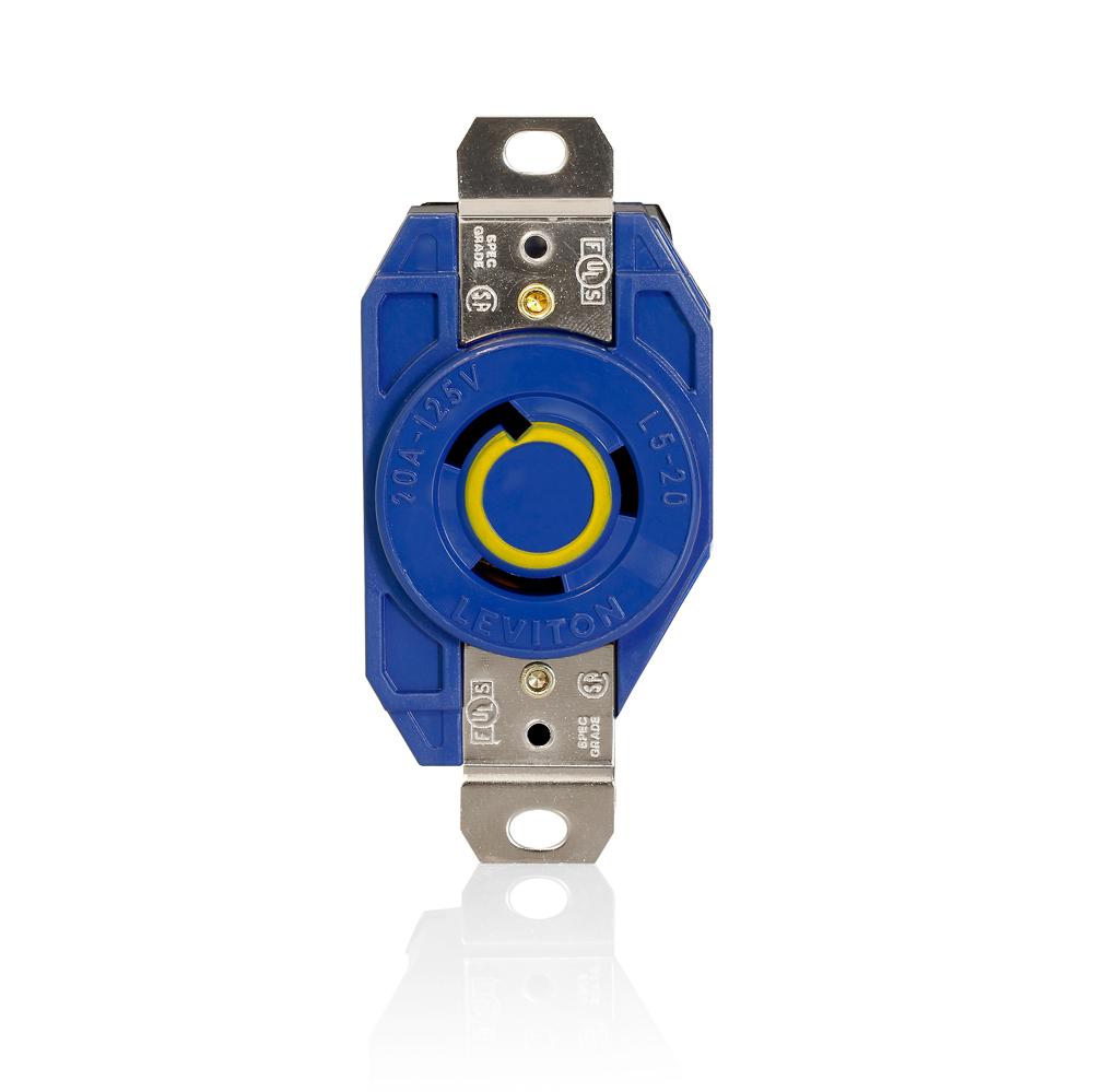 LEV 2310-BU L5-20 BLUE SINGL RECEPT