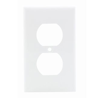Leviton 80703-W 2.75 x 0.215 x 4.5 Inch 1-Gang Smooth White Thermoplastic Nylon Device Mount Standard Receptacle Wallplate