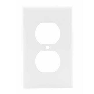 LEVITON 80703-W NYLON 1GANG DUPLEX RECEPTACLE WALLPLATE WHITE