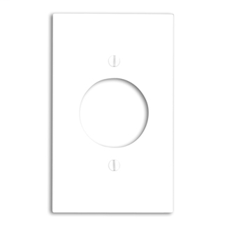Leviton 80720-W 1-Gang 1.60 Inch Diameter Device Mount Receptacle Standard Size Thermoplastic Nylon White Wallplate
