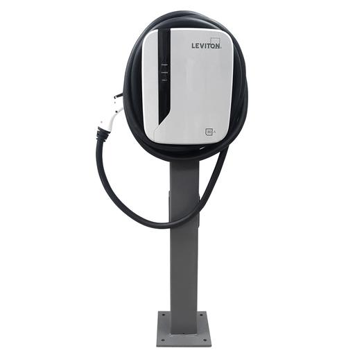 Evr-Green 40Amp EV Charging Station Pedestal System, 9.6kW output, 25' charging cable & Pedestal Mounting Pole and Base (Includes (1) EVPED-002 & (1) EVR40-B25)