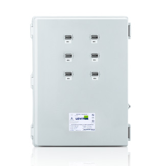 Large Mini Meter MMU, 120/208V 3P/4W REF VOLTAGE, 6 Dual Element Meters, NEMA 4X, Current Transformers Not Included.