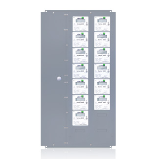 Series 2000 13-Meter Xtra-Large MMU Indoor Surface Mount Enclosure, 480VAC, 3P/4W, Configured for Amperage Ratings and Optional Demand Feature. CTs not included.