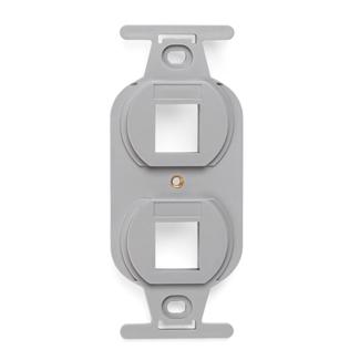 QuickPort Duplex Type 106 Insert, 2-Port, Grey