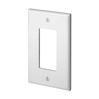 Leviton PJ26-W 1-Gang GFCI Device Midway Size Thermoplastic Nylon Device Mount White Decora Wallplate