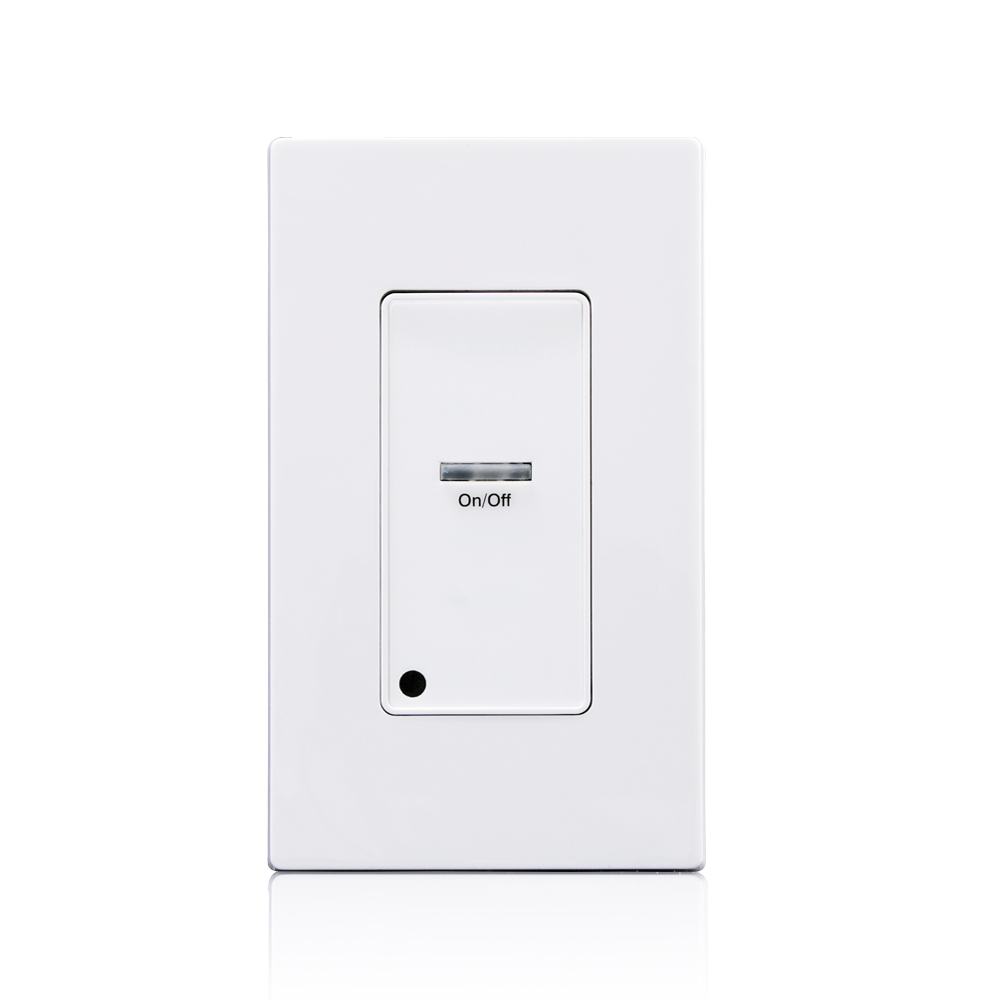 Leviton LVS-1W 24 VDC 1-Gang White 1-Button On-Off Low Voltage Switch Line