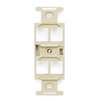 QuickPort Duplex Type 106 Insert, 4-Port, Ivory