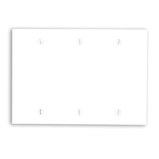 LEVITON 88033 WHITE 3-GANG BLANK BOX MOUNT PLATE