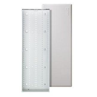 Leviton 47605-42W 15.62 x 3.83 x 43.32 Inch Powder Coated White 20 Gauge Steel Flush Mount Enclosure and Cover