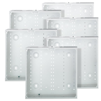 "14"" Structured Media Enclosure, Enclosure Only, Metal, 6 Pack, White"