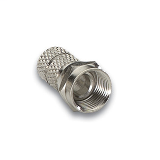 Leviton 40985-TW6 Nickel Plated Brass 1-Piece Twist-On RG-6 F-Connector