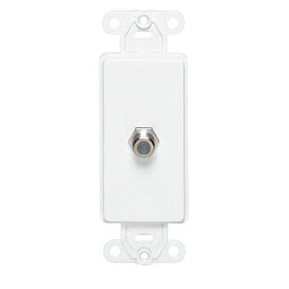 Decora Insert, F connector, White