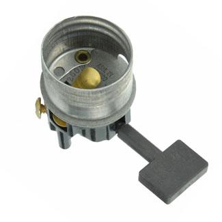 Medium Base Interior Only, Shell Incandescent Lampholder, Key, Single Circuit, -