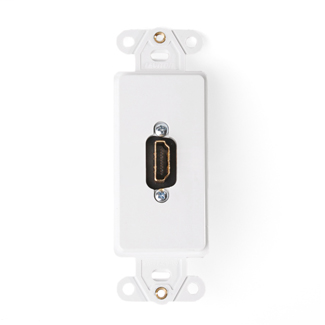 Decora Insert with HDMI Feedthrough QuickPort Connector, Single Gang, White