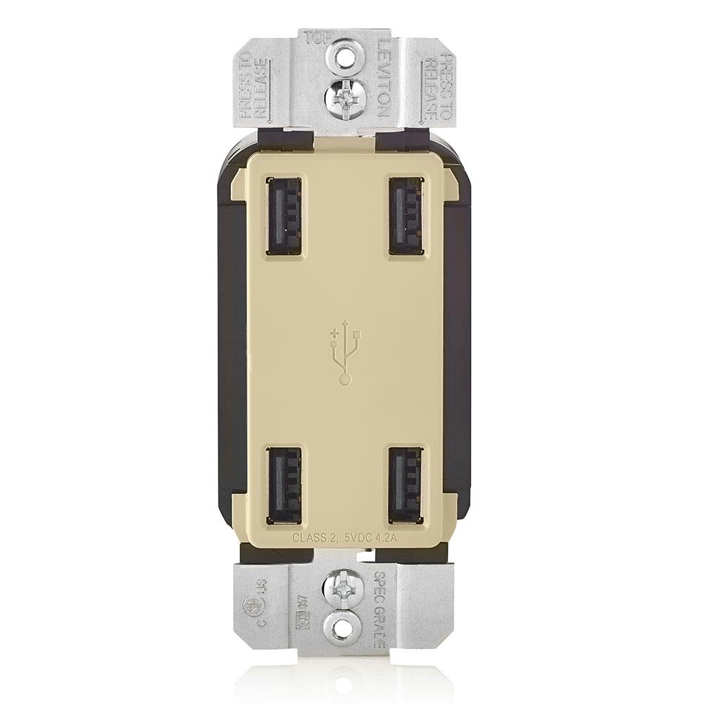 LEV USB4P-I 4 PORT USB DEVICE_IVORY