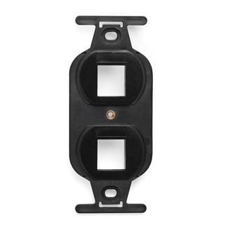 QuickPort Duplex Type 106 Insert, 2-Port, Black