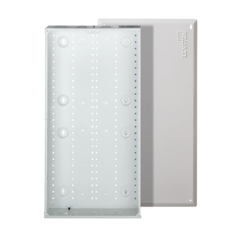 Leviton 47605-28W 15.62 x 3.83 x 29.32 Inch Powder Coated White 20 Gauge Steel Flush Mount Enclosure and Cover