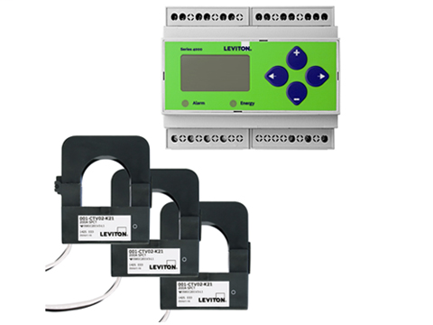 Indoor Series 4000 Universal Voltage 3-phase 3W/4W Modbus Meter Kits. Din Rail Mount - NO ENCLOSURE. 200A Split Core CTs Included.