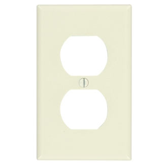 Leviton 78003 2.75 x 0.22 x 4.5 Inch 1-Gang Smooth Light Almond Thermoset Device Mount Standard Receptacle Wallplate