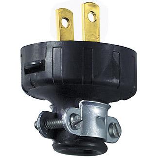 15 Amp, 125 Volt, NEMA 1-15P, 2Pole, 2Wire, Plug, Straight Blade, Residential Grade, Non-Polarized, Non-Grounding - Black
