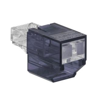 Port Blocker, Secure RJ, Gray color transparent