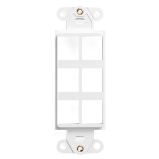 QuickPort Decora Insert, 6-Port, White