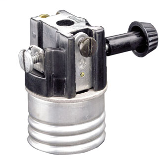 Leviton 7070-M 250 Volt 250 W Phenolic Removable Turn Knob 2-Circuit Medium Incandescent Lampholder Interior