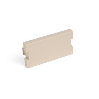 Blank MOS Module, 1 Unit High, Ivory