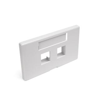 QuickPort Modular Furniture Faceplate, 2-Port, White (Herman Miller)