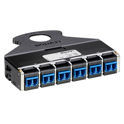 e2XHD 12-fiber QuickPort LC Cassette, OS2 - blue