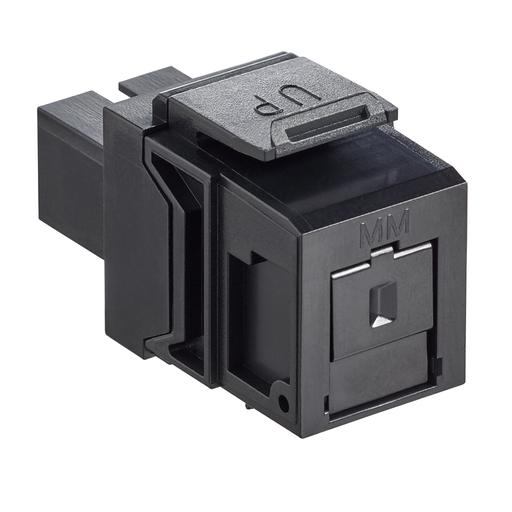 QuickPort Multimode Simplex SC Fiber Optic Adapter Module, Phosphor Bronze Sleeve, Black
