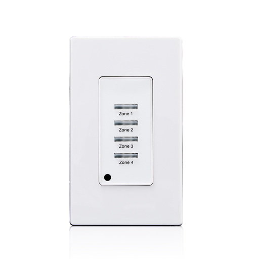 Low Voltage Pushbutton Station, 4 Button-On/Off, 1 Gang, White