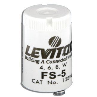 Leviton 13894 4/6/8 W FS-5 Fluorescent Starter