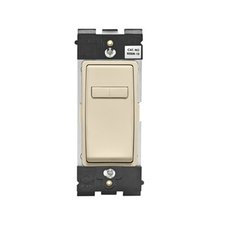 Leviton Renu® Coordinating Dimmer Remote RE00R-WG for 3-Way or More Applications, 120VAC, in Whispering Wheat