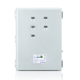 Large Mini Meter MMU, 120/240V 1P/3W REF VOLTAGE, 5 Dual Element Meters, NEMA 4X, Current Transformers Not Included.