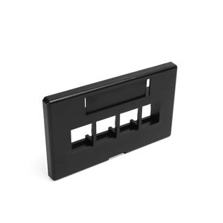 QuickPort Modular Furniture Faceplate, 4-Port, Black (Herman Miller)