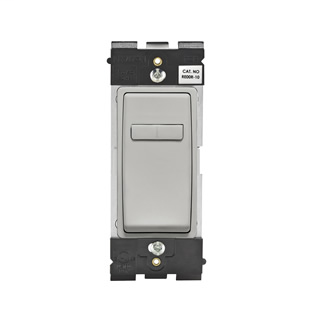 Leviton Renu® Coordinating Dimmer Remote RE00R-PG for 3-Way or More Applications, 120VAC, in Pebble Grey