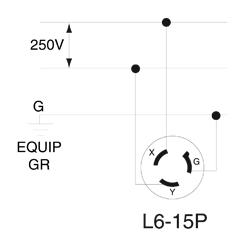 leviton 4570 c blk lkg plug nm l6 15p nema receptacle l6 30 wiring diagram nema l6 wiring diagram #11