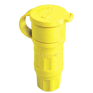 30 Amp, 600 Volt 3PY, NEMA L17-30R, 3P, 4W, Locking Connector, Industrial Grade, Grounding, Wetguard - YELLOW