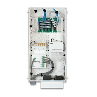 Leviton 47605-28N 14.38 x 3.63 x 28 Inch Powder Coated White 20 Gauge Steel Surface/Recessed Mount Enclosure