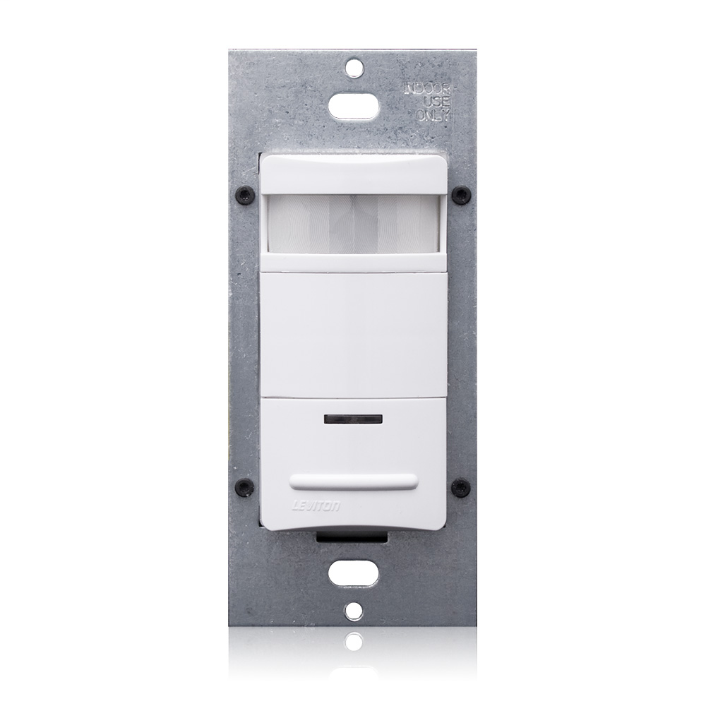 Leviton ODS15-IDW 120/277 VAC 1-Pole 1/4 Hp White Passive Infrared Wall Switch Occupancy Sensor