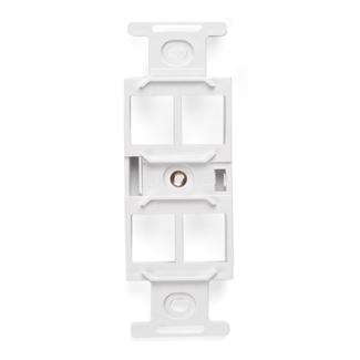 QuickPort Duplex Type 106 Insert, 4-Port, White