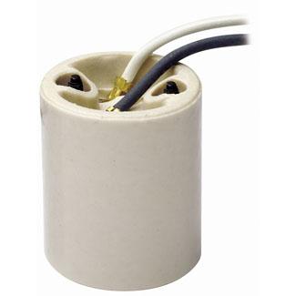 Leviton 10085 250 Volt 660 W White Porcelain Screw Mount 1-Piece 1-Circuit Keyless Medium Incandescent Lampholder
