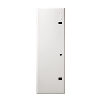 Leviton 47605-42D 15.62 x 0.25 x 43.33 Inch Powder Coated White 18 Gauge Steel Economy Hinged Door Enclosure Cover