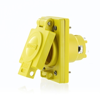 LEV 97W82-S WG OUTLET WITH COVER