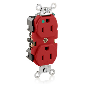 LEV 8200-R 515R HG RECEP RED NIKL P