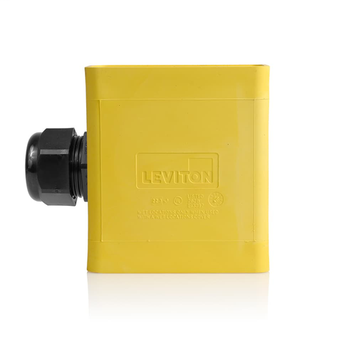 Single-Gang Portable Outlet Box, Extra Deep, Pendant Style, Yellow